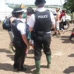 Police in wellies!!